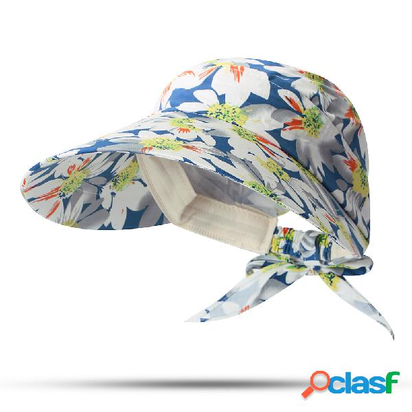 Mulheres removível verão protetor solar anti-uv chapéu outdoor casual travel cap