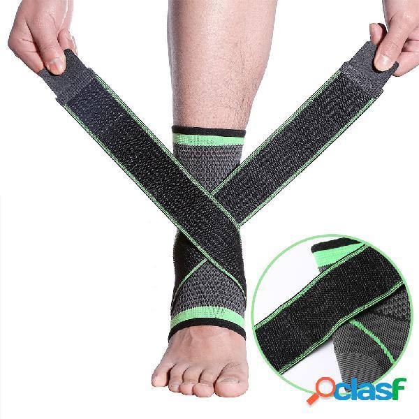 Sports tornozelo tiras de proteção confiável mão de tricô respirável adulto aptidão guarda tornozelo