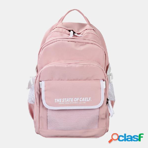 Mulheres de viagens casuais de grande capacidade mochilas mochilas de estudantes