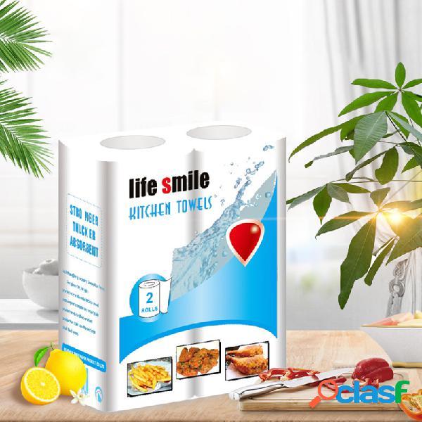 2 rolos / 1 bolso de papel toalha cozinha toalha família rolos
