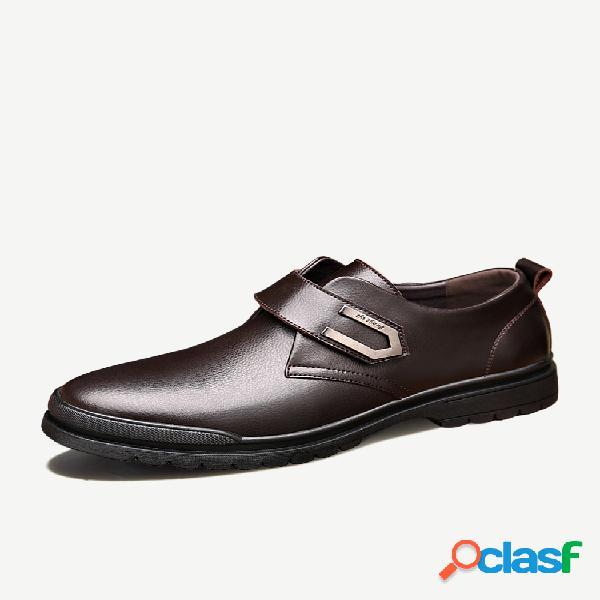 Fivela de metal antideslizante masculino em couro calçado formal casual