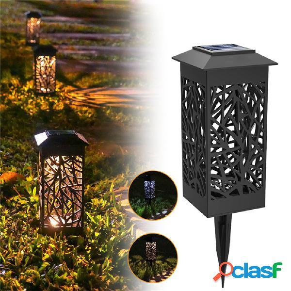 Led solar paisagem lawn lamp torch garden lantern light outdoor waterproof