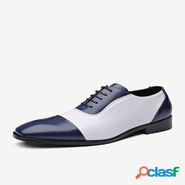 Couro masculino com costura antiderrapante calçado formal casual
