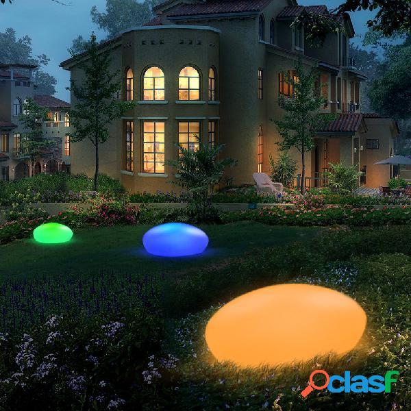 Forma de paralelepípedos de brilho solar luz decoração de jardim ao ar livre rgb lawn light com remoto