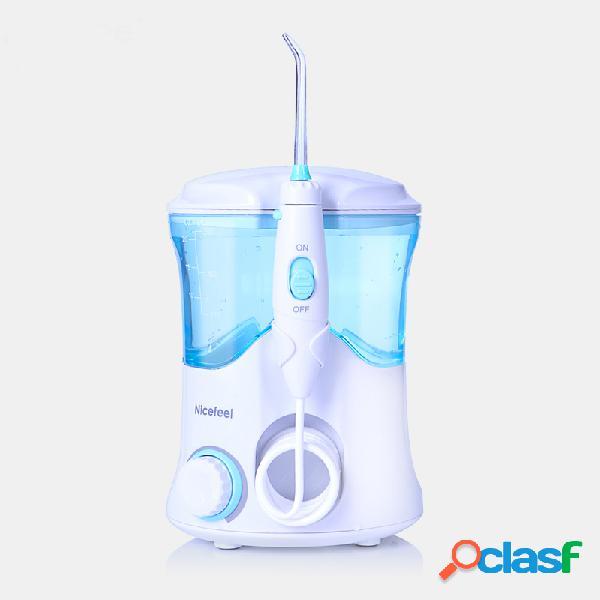 Nicefee 600 ml água dental flosser irrigador multifuncional oral irrigador oral care kit 7 bocais