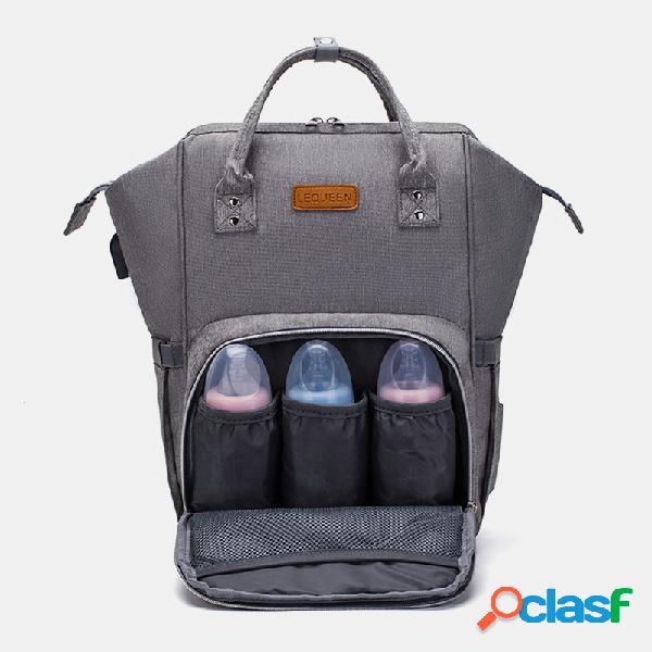 Fralda do bebê mochila fralda mochila de grande capacidade mudando bolsa cuidados com o bebê mãe organizador