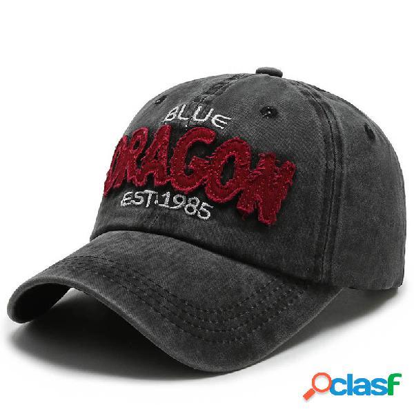 Boné de beisebol de ganga lavado com borda personalizada para exterior masculino para sol chapéu