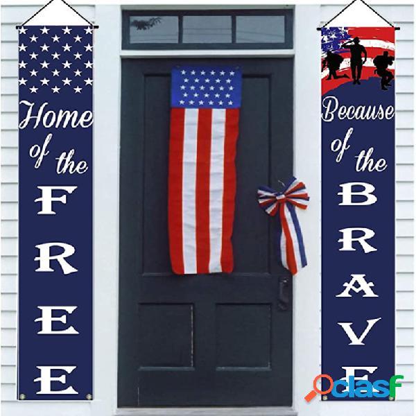 Dia da independência americana banner quintal interior festa ao ar livre decoração porta parede jardim presidente eleição porch sinal