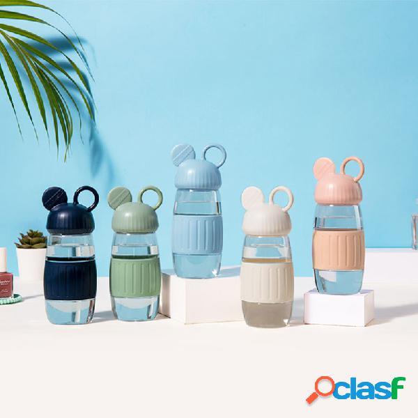 Mini garrafa de água bonito 350ml antiderrapante garrafas para crianças