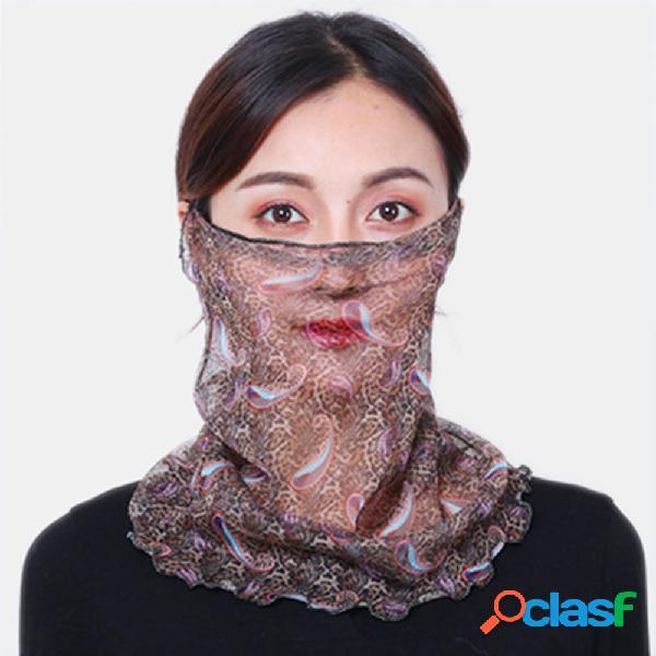 Zebra print leopard print máscaras de impressão respiráveis proteção para o pescoço protetor solar protetor auricular montado