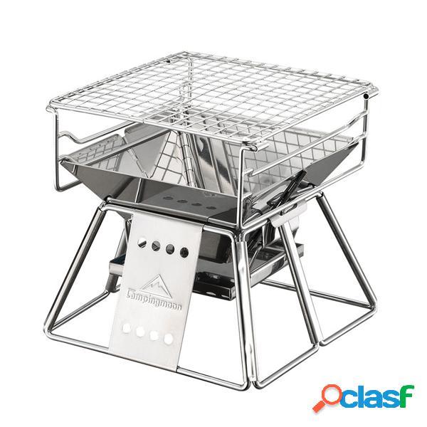 Aço inoxidável portátil bbq grill barbecue camping outdoor picnic tool dobrável bbq grill bbq accessories