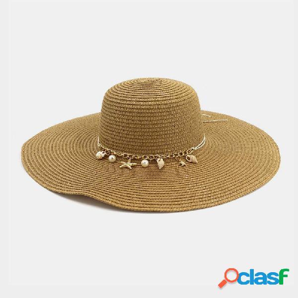Protetor solar para viagens de férias ao ar livre para mulheres praia chapéu sol chapéu palha chapéus