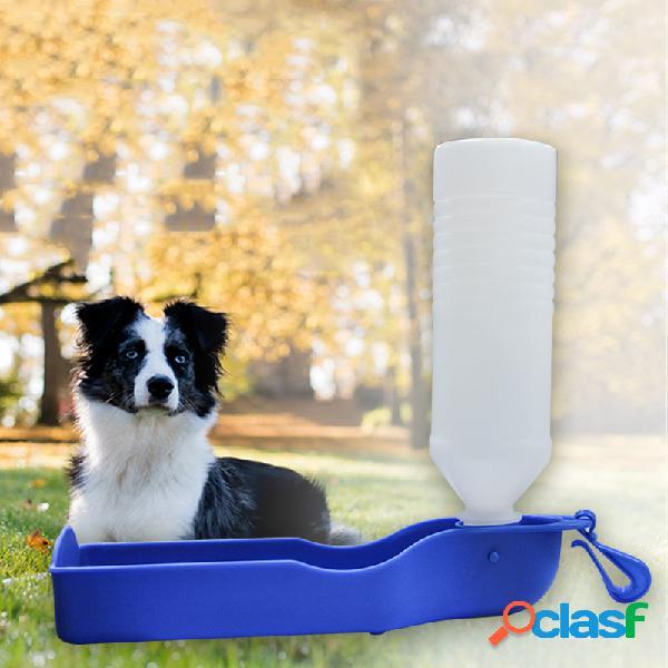 Pet supplies beber garrafa de alimentação ao ar livre portátil garrafa pode pendurado cachorro waterer água potável gato garrafa de água