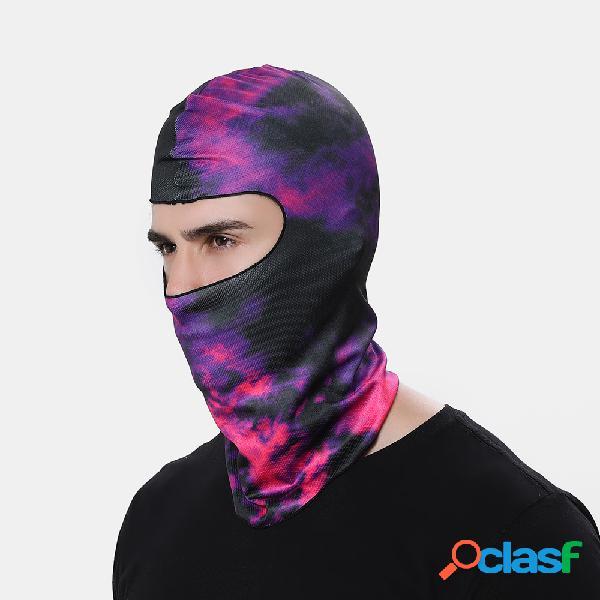 Face máscara protetor solar à prova de vento chapelaria dustproof 3d funny padrão