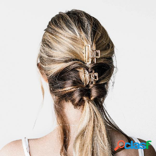 Metal geométrico cabelo garra semicírculo moon shape cabelo garras de clipe matte cabelopin cabelo acessórios