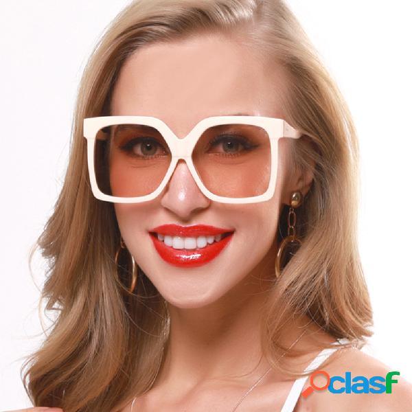 Retro big caixa novos óculos de sol contraste óculos de sol de cor