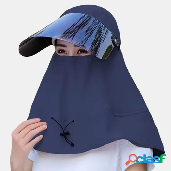 Sol ajustável collrown chapéu com grandes beirais respirável chapéu
