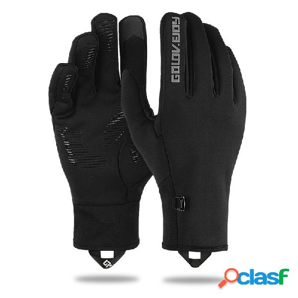 Homens inverno quente tela sensível ao toque à prova de vento à prova de vento luvas de dedo completo ao ar livre luvas de condução de esqui