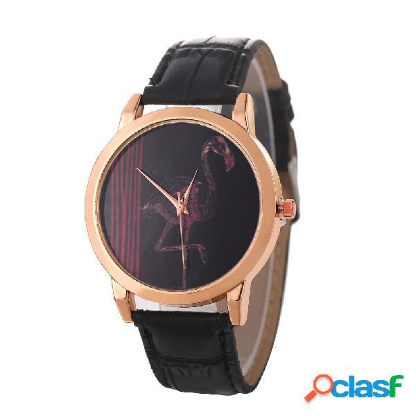 Moda mulheres relógio de quartzo relógio de couro cintura impermeável quart warth