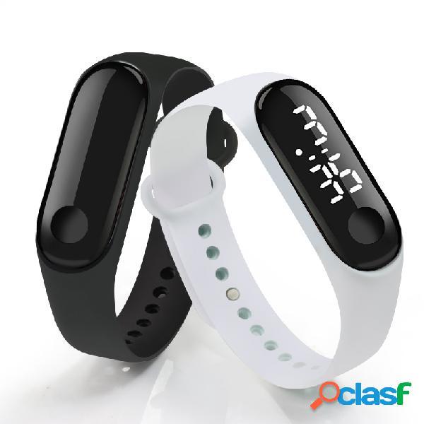 Moda relógio digital led touch watch touch screen sport watch for men women