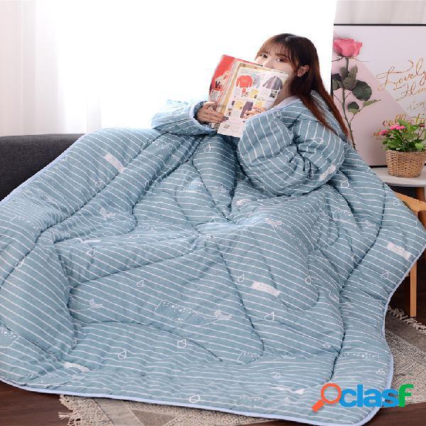Cobertor de edredão preguiçoso de 120x160 cm para todas as estações para verão, primavera, assistir tv cobertor de cama com mangas