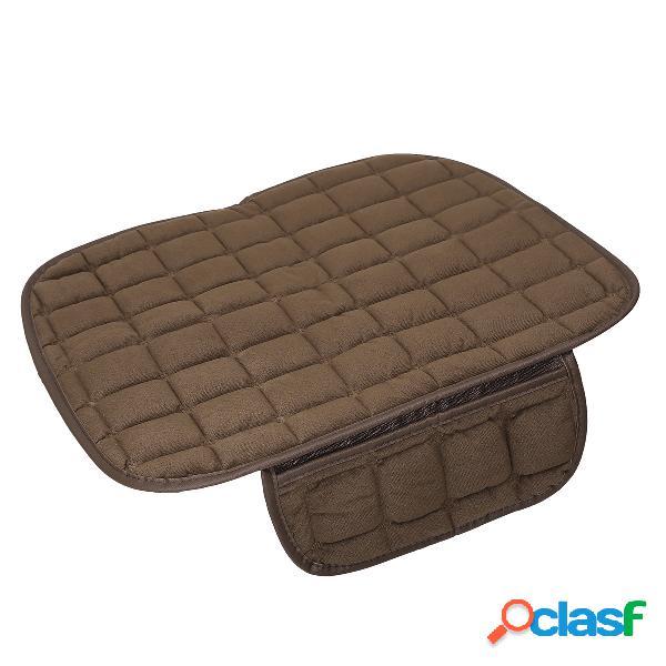 Almofada de pelúcia para assento dianteiro do carro cobre cadeira protetora tapete de assento universal