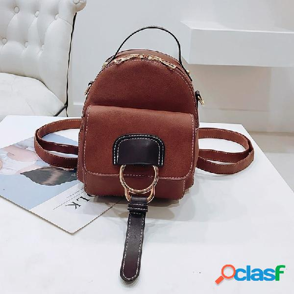 Mini mochila multi-funcional feminina
