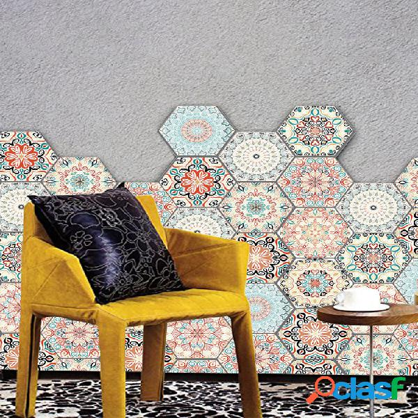 Adesivo de parede 3d 10 unidades / conjunto autoadesivo cerâmico azulejos diy banheiro decalque de piso de parede de cozinha