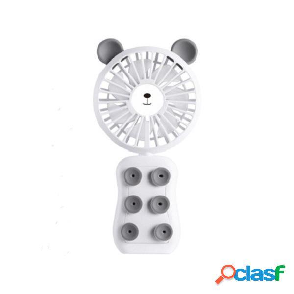 Ipree® 3.7v 7 lâminas mini ventilador portátil de mão ventilador de mesa usb 2 ar de arrefecimento velocidade do vento dobrável