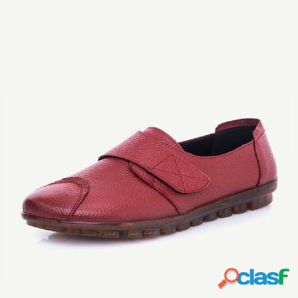 Mulheres casuais soft sola gancho loop flats loafers