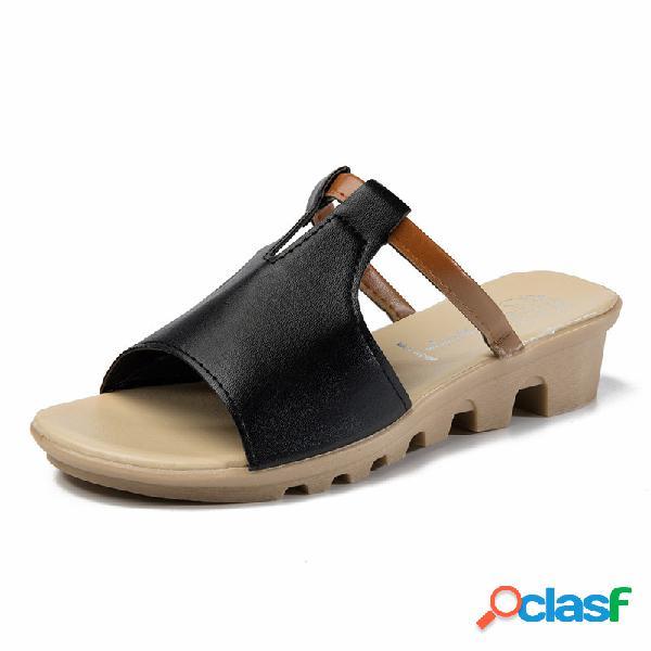 Mulheres casual sandálias planas antiderrapantes praia chinelos
