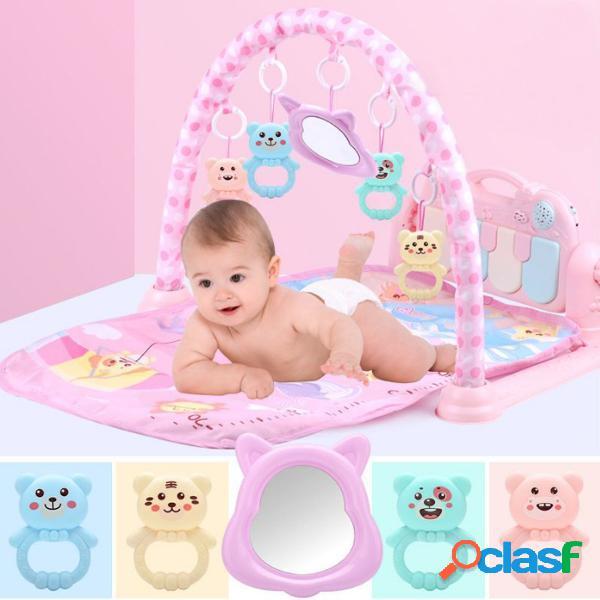 3 em 1 bebê infantil academia jogar mat aptidão música pedal piano brinquedos educativos usb baby play mat