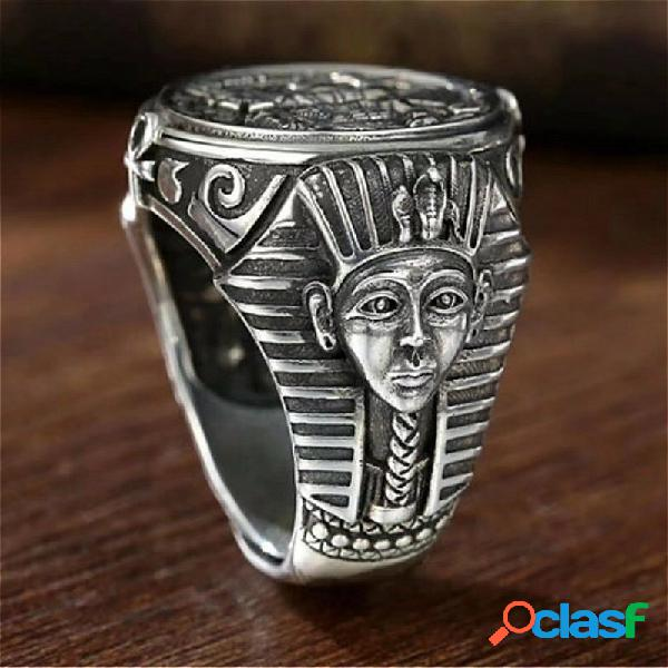 Anel de aço inoxidável anúbis egípcio antigo de personalidade vintage para homens acessórios de joias de dedo