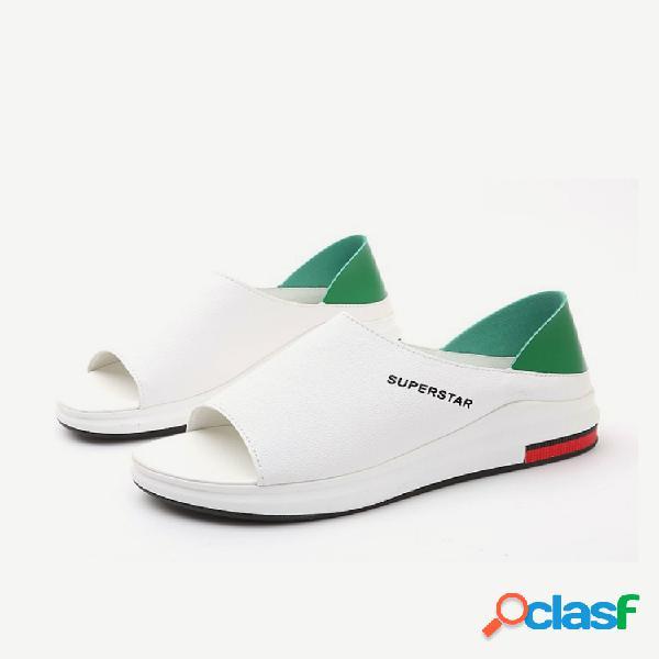 Sandálias de tamanho grande temporada feminina novos calçados femininos estudantes selvagem flat praia sandálias casuais
