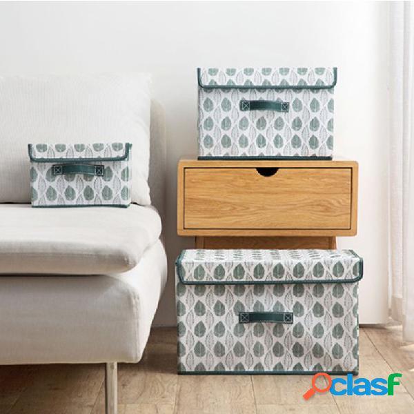 Não-tecido grande armazenamento caixa tecido com armazenamento de roupas de cobertura caixa armazenamento de roupas dobrável caixa
