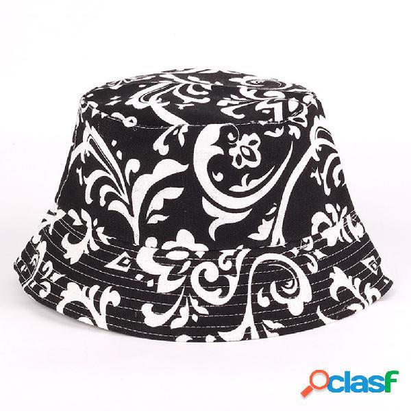 Visor floral multicolor dos homens das mulheres sol chapéu pescador chapéu uv cap balde de proteção