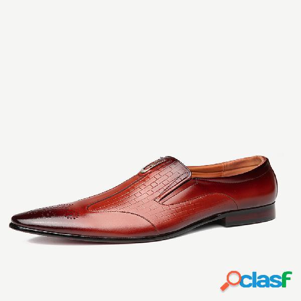 Menico homens couro genuíno sapatos formais casuais antiderrapantes
