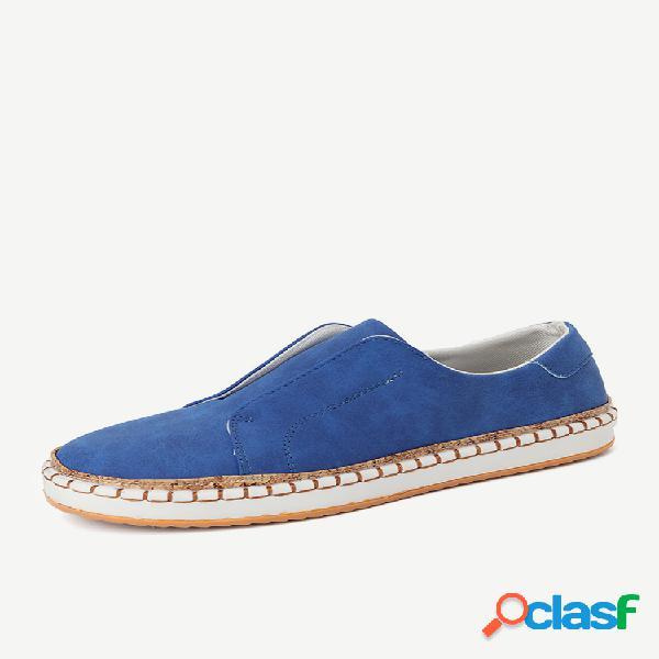 Tamanho grande mulheres sapatos casuais leopardo redondo toe deslizamento em mocassins planas