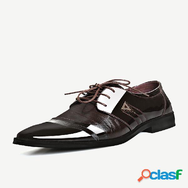 Homens classic boné toe lace up confortável negócios formais sapatos casuais