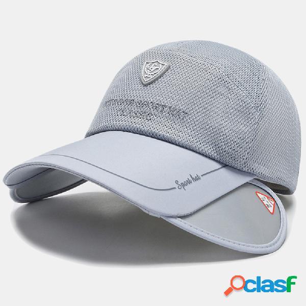 Sol de verão chapéu pesca chapéu boné de beisebol respirável de malha