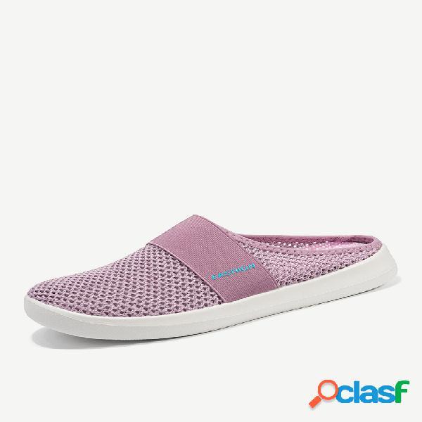 Mulheres elastic banda respirável casual sem encosto praia sapatos casuais