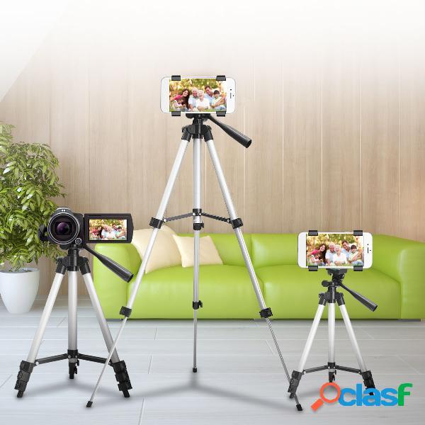 Suporte de montagem de tripé de câmera extensível para telefone celular iphone + bolsa