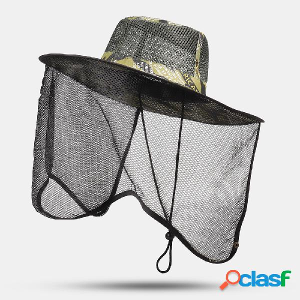 Caminhadas dos homens viagem sol chapéu cap pesca ao ar livre gaze de malha respirável casual chapéu