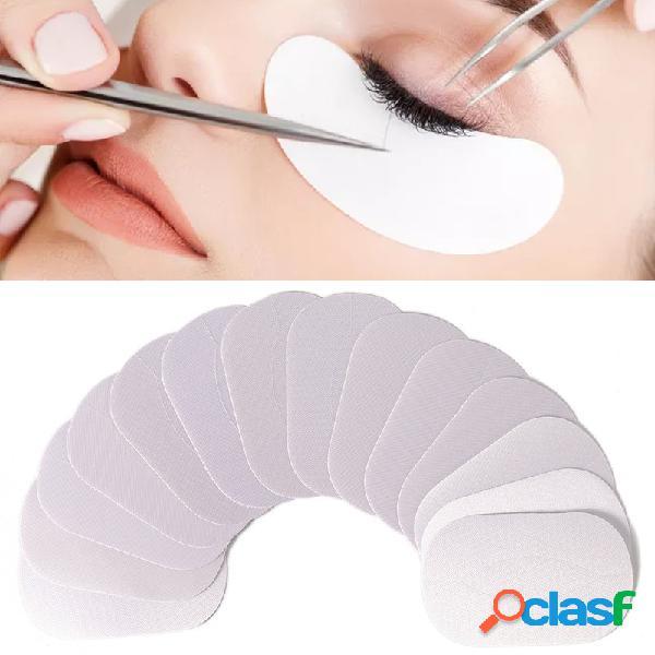 50 pares de seda cílios kit de enxertos de enxertia sob o olho máscara cílios almofada de extensão adesivos
