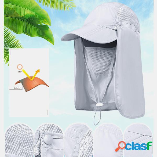 Protetor solar dobrável unisex pescador chapéu protetor solar montanhismo pesca seca rápida chapéu