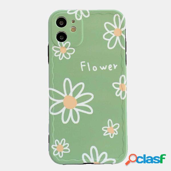 Telefone celular pequeno da margarida caso para iphone silicone soft caso