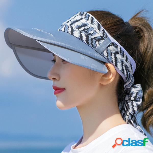 Sol de duas cores chapéu protetor solar de verão beirado top exterior vazio chapéu respirável