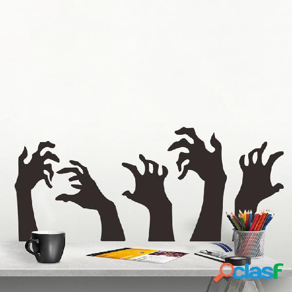 Adesivo de parede do dia das bruxas miico devil's hand adesivo de parede decoração de halloween decoração de quarto