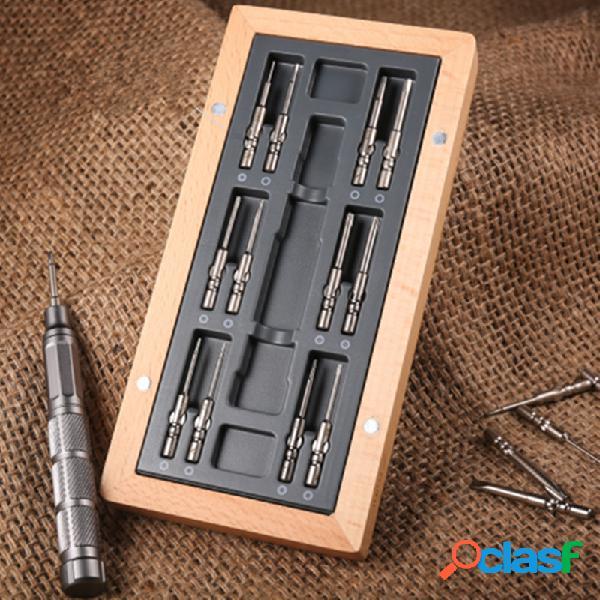 Ferramenta de reparo de conjunto de chave de fenda de precisão multifuncional 24 em 1 com armazenamento magnético