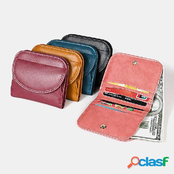 Carteiras de couro de mulheres carteira de cartão bolsa de moedas